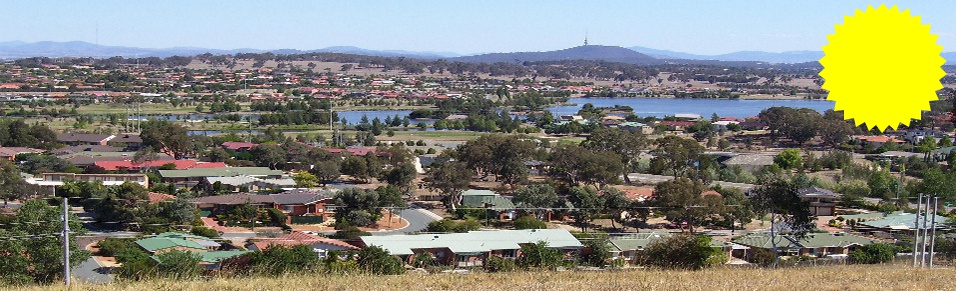 Beautiful Gungahlin looking towards the Brindabella Mountains